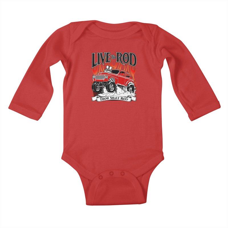 62 Volvo Gasser PV544 – clean red Kids Baby Longsleeve Bodysuit by screamnjimmy's Artist Shop