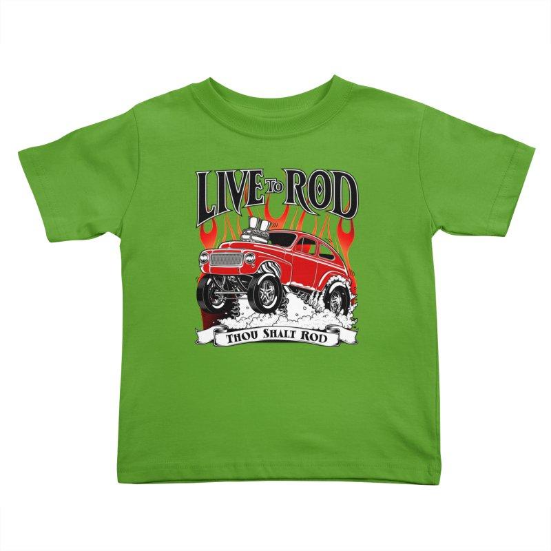 62 Volvo Gasser PV544 – clean red Kids Toddler T-Shirt by screamnjimmy's Artist Shop