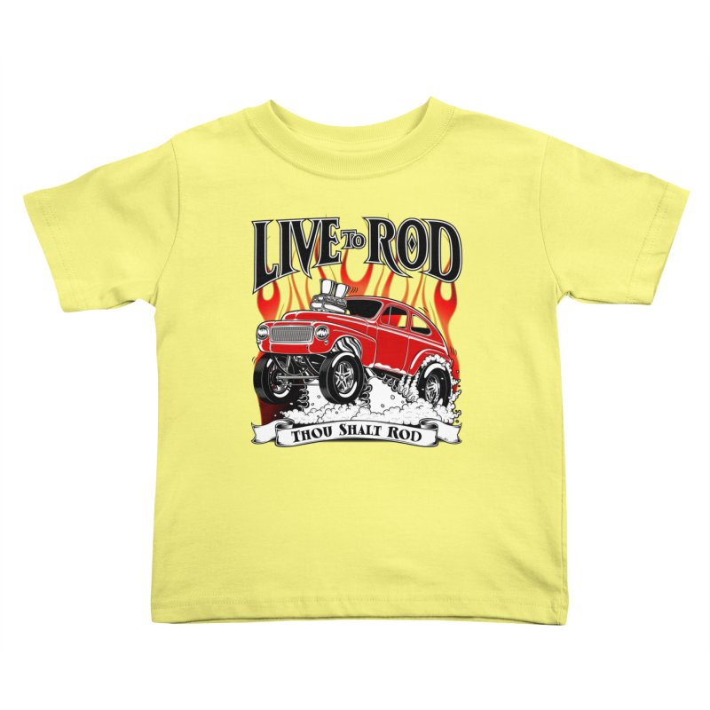 62 Volvo Gasser PV544 – clean red Kids Toddler T-Shirt by screamnjimmy's Artist Shop