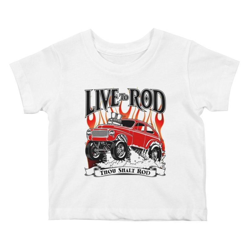62 Volvo Gasser PV544 – clean red Kids Baby T-Shirt by screamnjimmy's Artist Shop