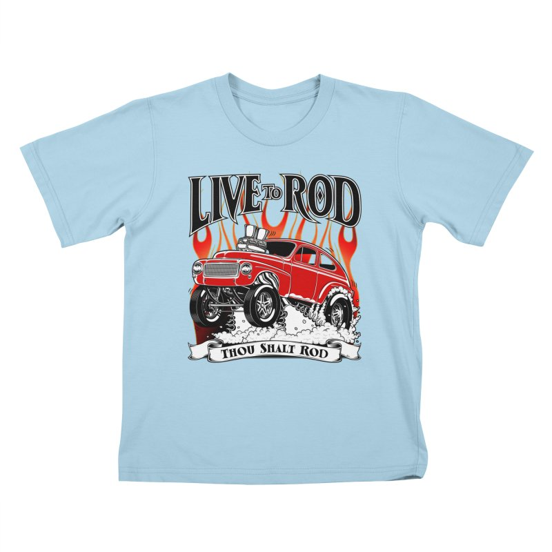 62 Volvo Gasser PV544 – clean red Kids T-Shirt by screamnjimmy's Artist Shop