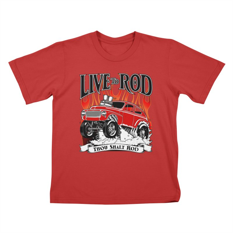 62 Volvo Gasser PV544 – clean red Kids T-Shirt by screamnjimmy's Artist Shop