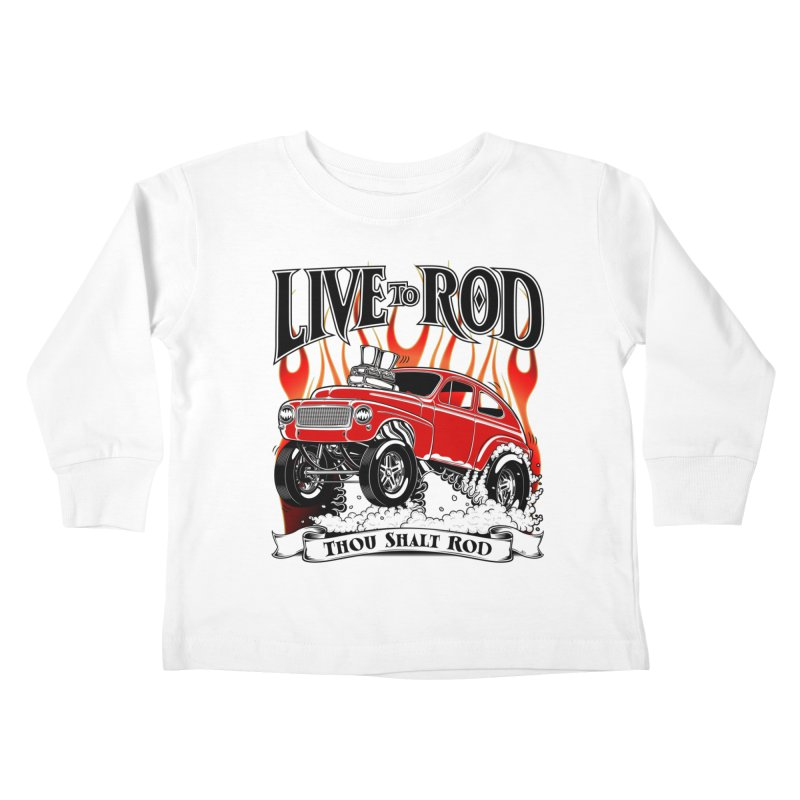 62 Volvo Gasser PV544 – clean red Kids Toddler Longsleeve T-Shirt by screamnjimmy's Artist Shop