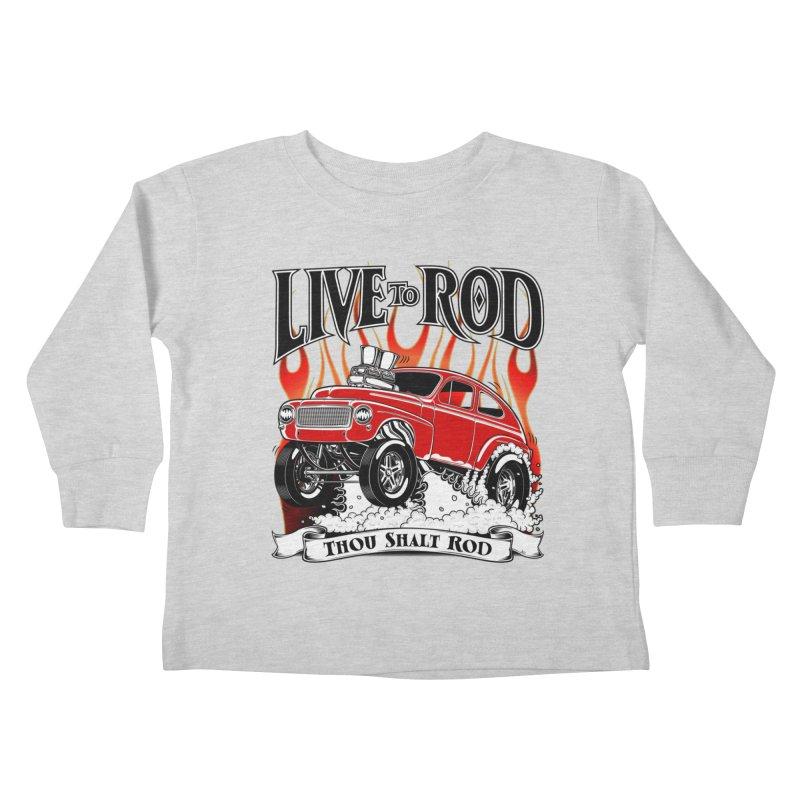62 Volvo Gasser PV544 – clean red Kids Toddler Longsleeve T-Shirt by screamnjimmy's Artist Shop