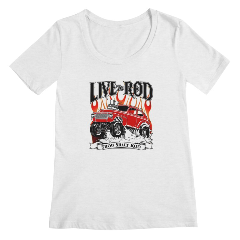62 Volvo Gasser PV544 – clean red Women's Regular Scoop Neck by screamnjimmy's Artist Shop