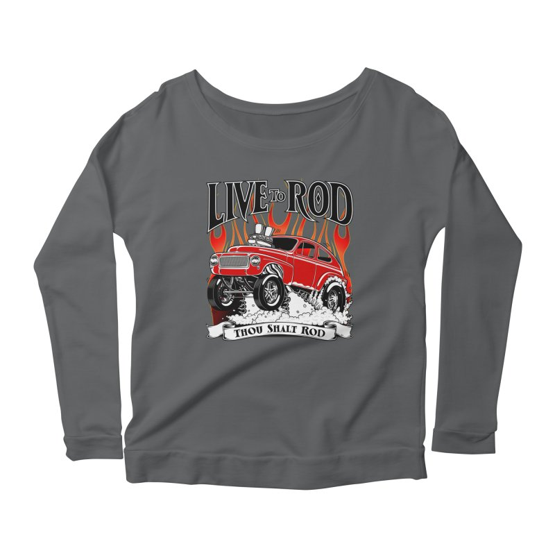 62 Volvo Gasser PV544 – clean red Women's Scoop Neck Longsleeve T-Shirt by screamnjimmy's Artist Shop
