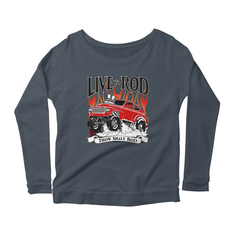 62 Volvo Gasser PV544 – clean red Women's Longsleeve Scoopneck  by screamnjimmy's Artist Shop
