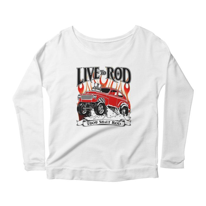 62 Volvo Gasser PV544 – clean red Women's Scoop Neck Longsleeve T-Shirt by screamnjimmy's Artist Shop