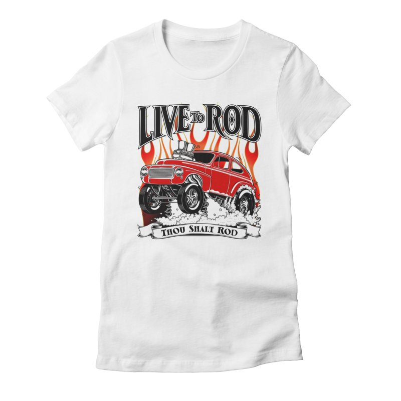 62 Volvo Gasser PV544 – clean red Women's Fitted T-Shirt by screamnjimmy's Artist Shop