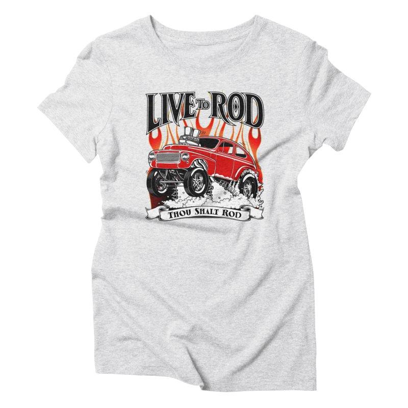 62 Volvo Gasser PV544 – clean red Women's Triblend T-Shirt by screamnjimmy's Artist Shop