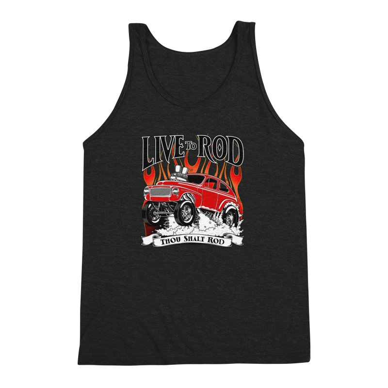 62 Volvo Gasser PV544 – clean red Men's Triblend Tank by screamnjimmy's Artist Shop