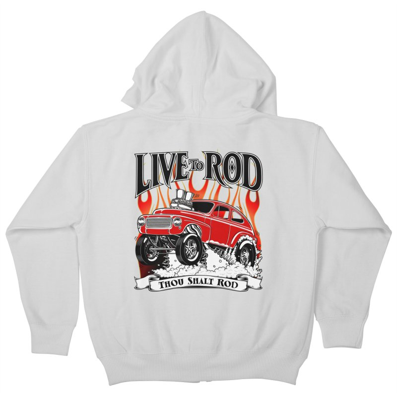 62 Volvo Gasser PV544 – clean red Kids Zip-Up Hoody by screamnjimmy's Artist Shop
