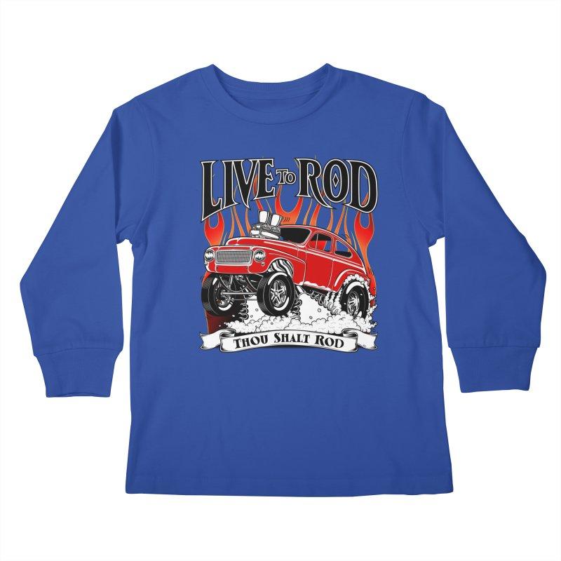 62 Volvo Gasser PV544 – clean red Kids Longsleeve T-Shirt by screamnjimmy's Artist Shop