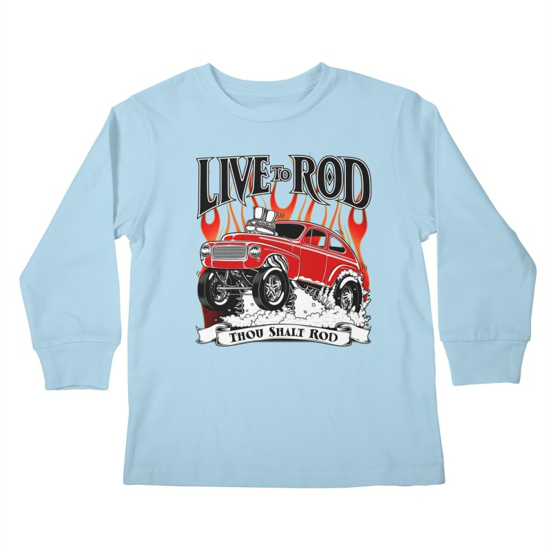 62 Volvo Gasser PV544 – clean red Kids Longsleeve T-Shirt by screamnjimmy's Artist Shop