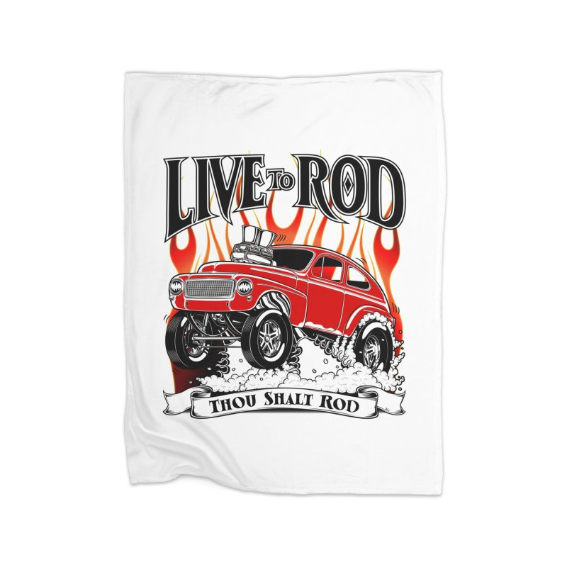 62 Volvo Gasser PV544 – clean red Home Blanket by screamnjimmy's Artist Shop