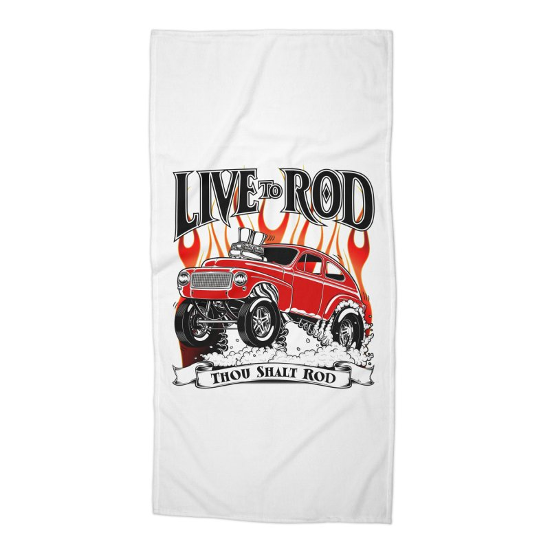 62 Volvo Gasser PV544 – clean red Accessories Beach Towel by screamnjimmy's Artist Shop