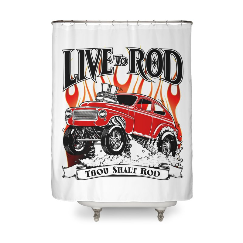 62 Volvo Gasser PV544 – clean red Home Shower Curtain by screamnjimmy's Artist Shop