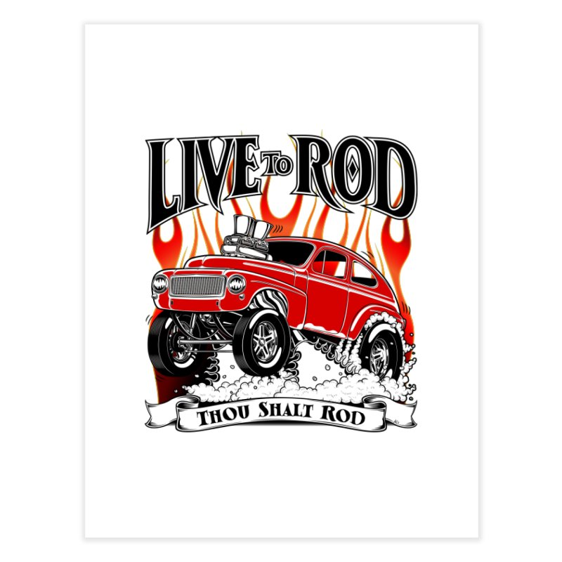62 Volvo Gasser PV544 – clean red Home Fine Art Print by screamnjimmy's Artist Shop