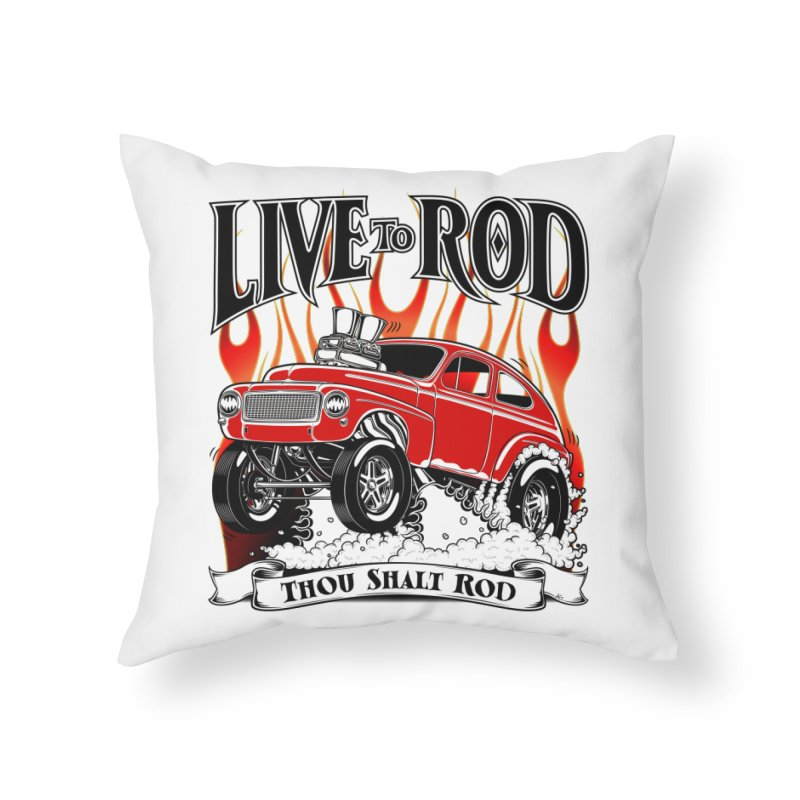 62 Volvo Gasser PV544 – clean red Home Throw Pillow by screamnjimmy's Artist Shop