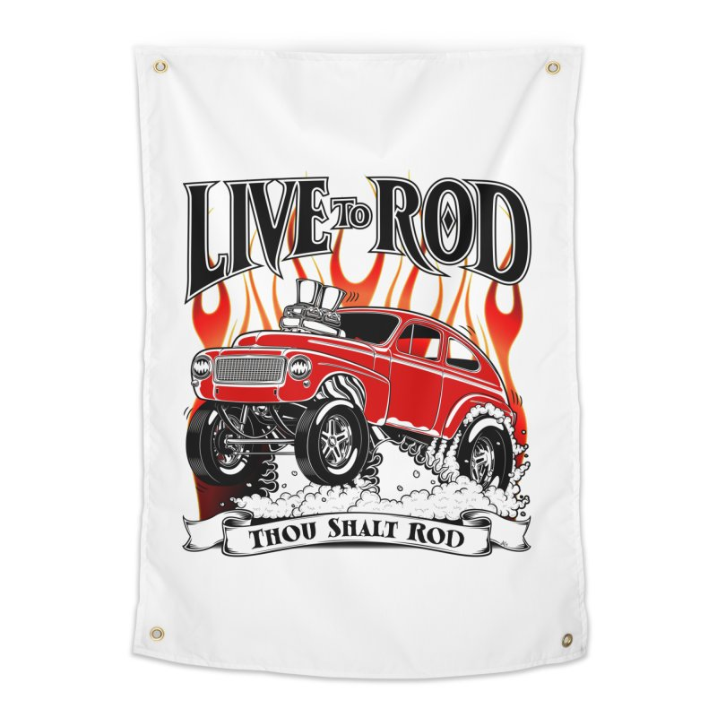 62 Volvo Gasser PV544 – clean red Home Tapestry by screamnjimmy's Artist Shop