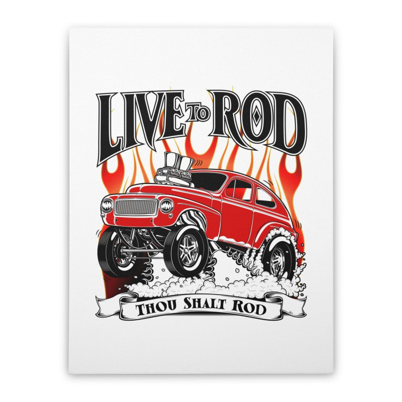 62 Volvo Gasser PV544 – clean red Home Stretched Canvas by screamnjimmy's Artist Shop