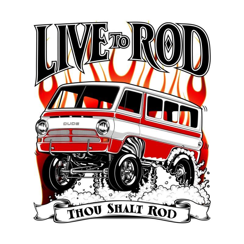 69' Dodge Gasser van, clean red Accessories Zip Pouch by screamnjimmy's Artist Shop