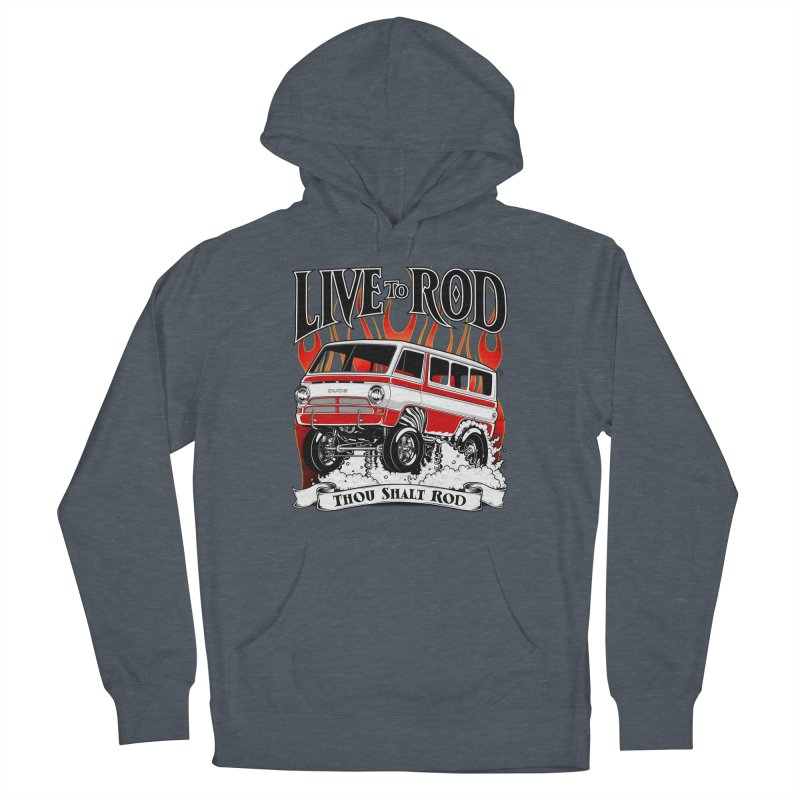 69' Dodge Gasser van, clean red Men's French Terry Pullover Hoody by screamnjimmy's Artist Shop