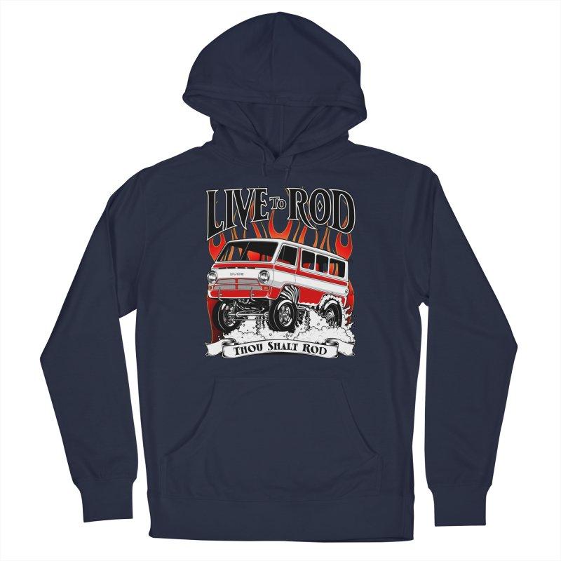69' Dodge Gasser van, clean red Men's Pullover Hoody by screamnjimmy's Artist Shop