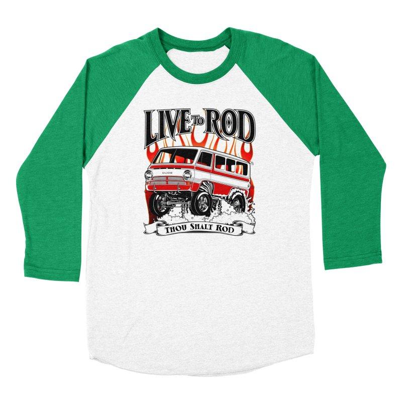 69' Dodge Gasser van, clean red Men's Baseball Triblend Longsleeve T-Shirt by screamnjimmy's Artist Shop