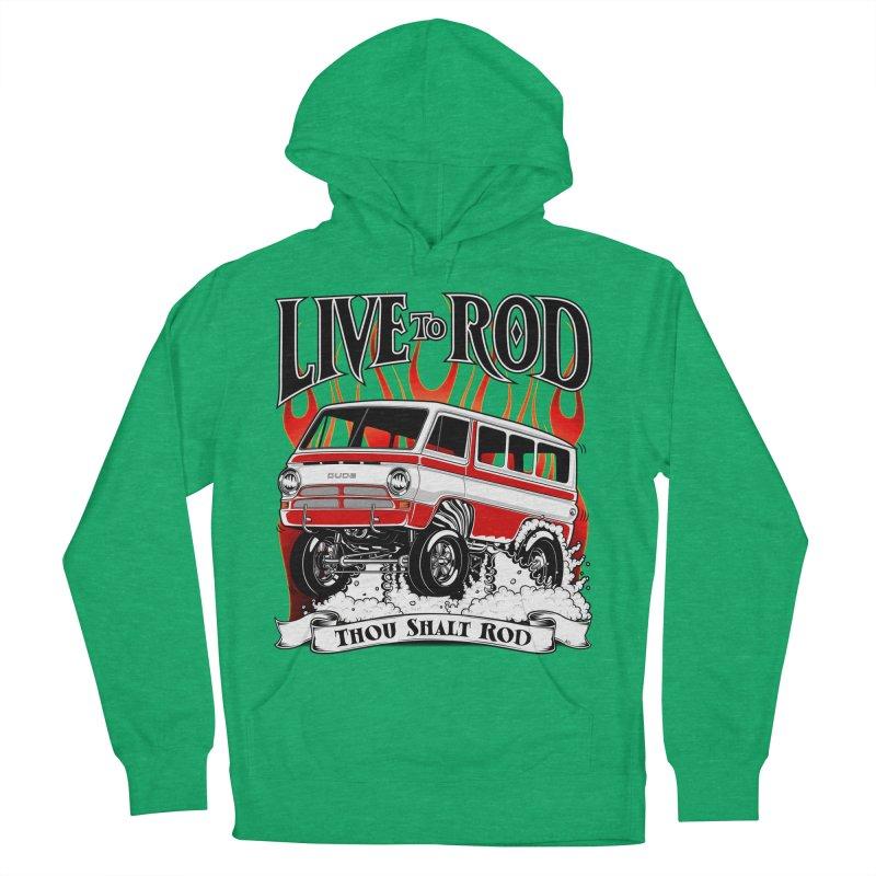 69' Dodge Gasser van, clean red Women's Pullover Hoody by screamnjimmy's Artist Shop