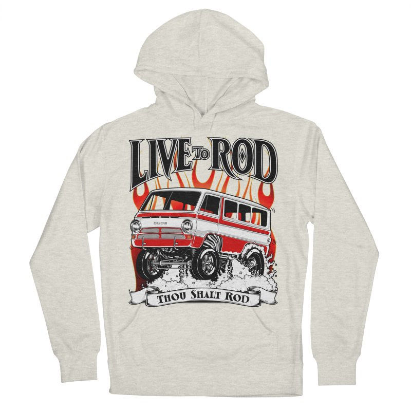 69' Dodge Gasser van, clean red Women's French Terry Pullover Hoody by screamnjimmy's Artist Shop