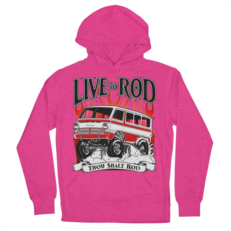 69' Dodge Gasser van, clean red Women's Pullover Hoody by screamnjimmy's Artist Shop