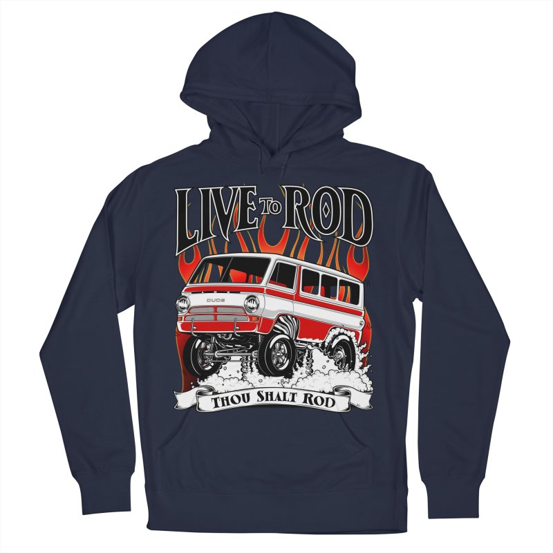 69' Dodge Gasser van, clean red Men's Pullover Hoody by screamnjimmy's Artist Shop