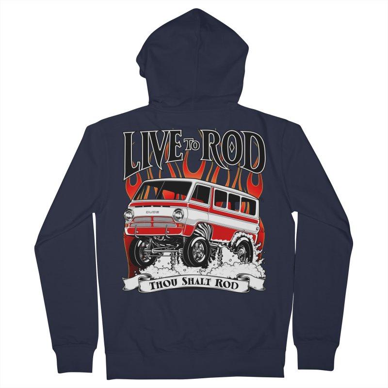 69' Dodge Gasser van, clean red Women's Zip-Up Hoody by screamnjimmy's Artist Shop