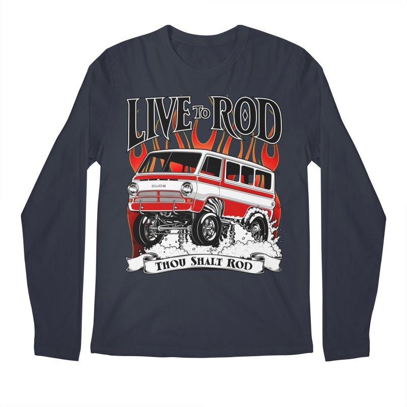 69' Dodge Gasser van, clean red Men's Regular Longsleeve T-Shirt by screamnjimmy's Artist Shop