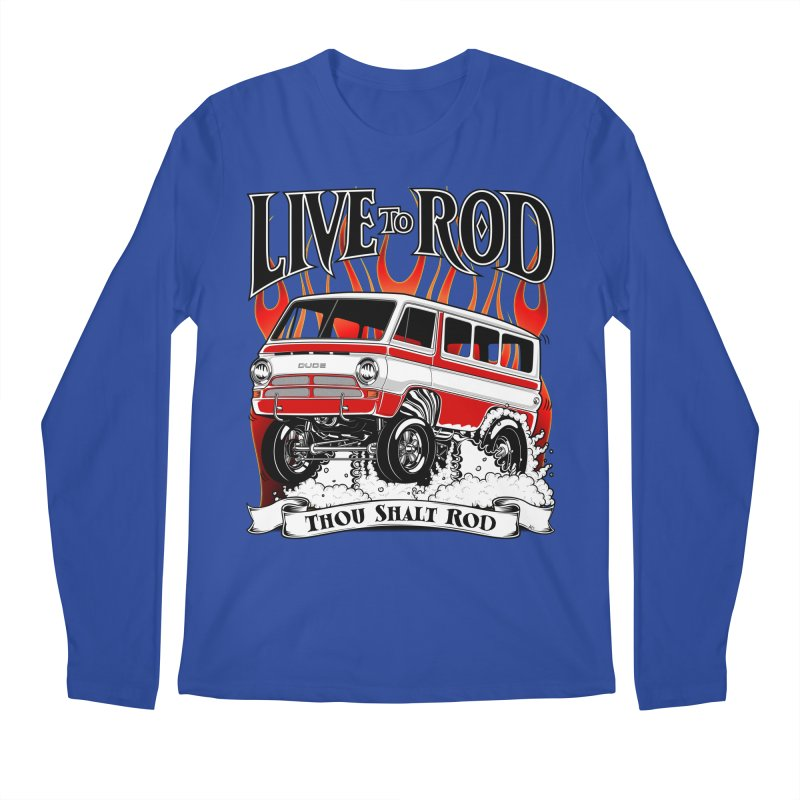 69' Dodge Gasser van, clean red Men's Longsleeve T-Shirt by screamnjimmy's Artist Shop