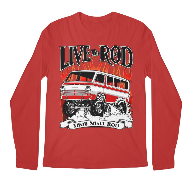 69' Dodge Gasser van, clean red Men's Regular Longsleeve T-Shirt by screamnjimmy's Artist Shop