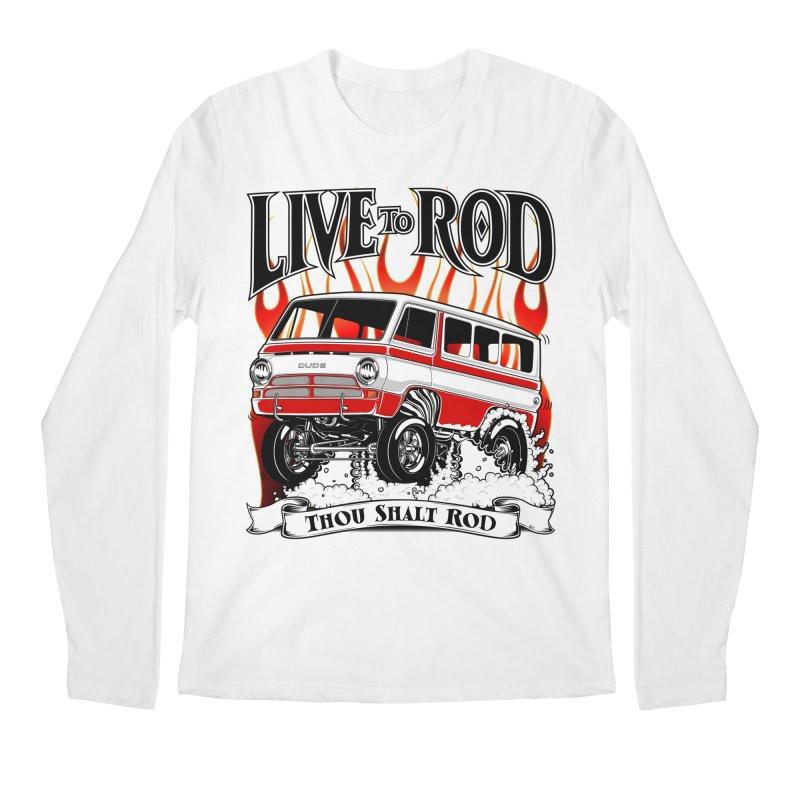 69' Dodge Gasser van, clean red Men's Longsleeve T-Shirt by screamnjimmy's Artist Shop