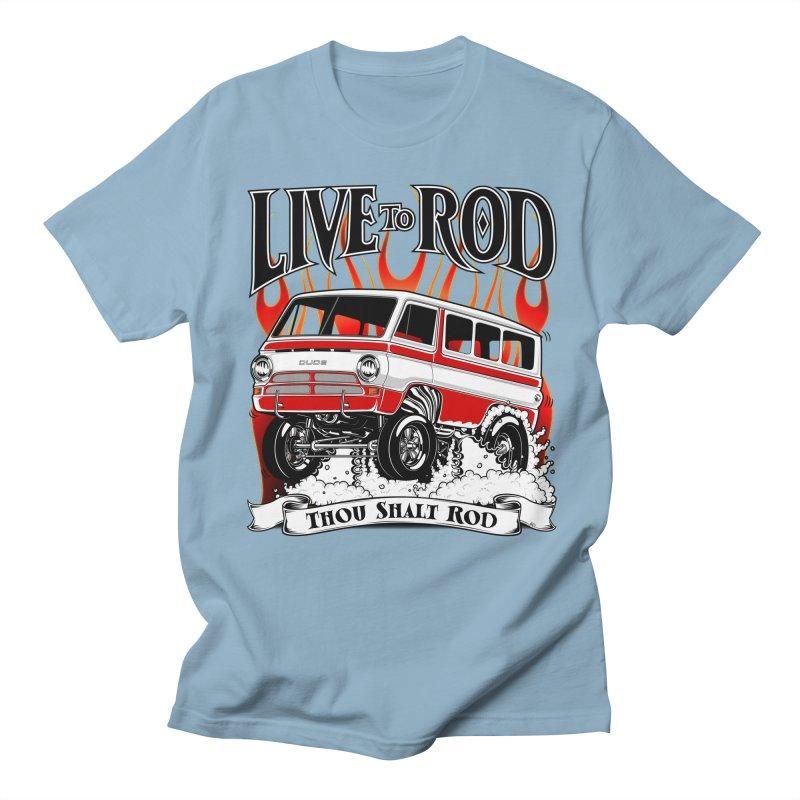 69' Dodge Gasser van, clean red Women's Unisex T-Shirt by screamnjimmy's Artist Shop