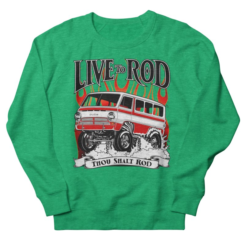 69' Dodge Gasser van, clean red Women's Sweatshirt by screamnjimmy's Artist Shop
