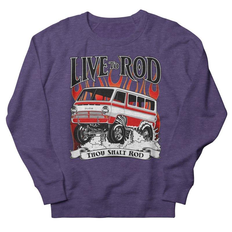 69' Dodge Gasser van, clean red Women's Sweatshirt by screamnjimmy's Artist Shop