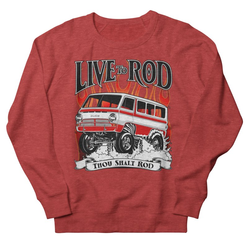 69' Dodge Gasser van, clean red Women's French Terry Sweatshirt by screamnjimmy's Artist Shop