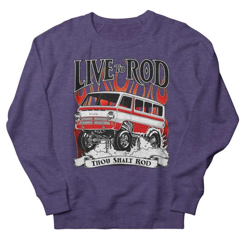69' Dodge Gasser van, clean red Men's French Terry Sweatshirt by screamnjimmy's Artist Shop