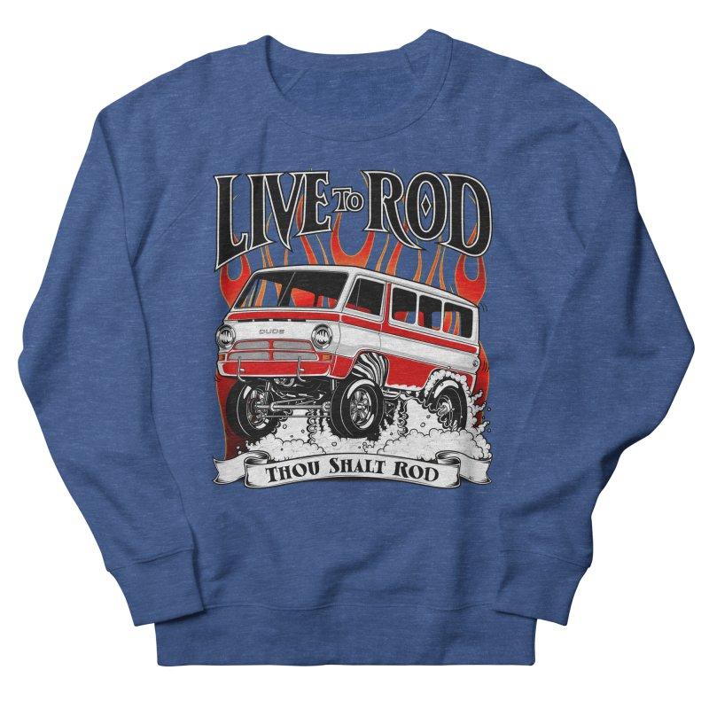 69' Dodge Gasser van, clean red Men's Sweatshirt by screamnjimmy's Artist Shop