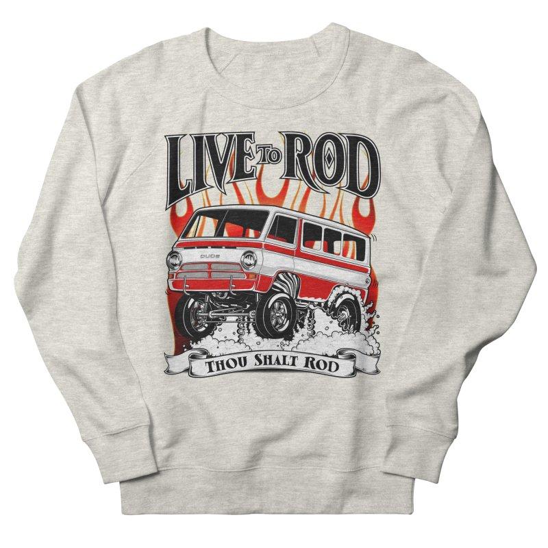 69' Dodge Gasser van, clean red Men's French Terry Sweatshirt by screamnjimmy's Artist Shop