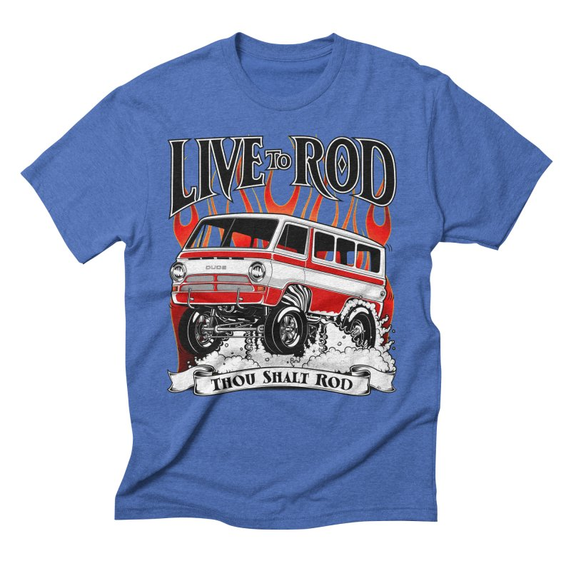 69' Dodge Gasser van, clean red Men's T-Shirt by screamnjimmy's Artist Shop