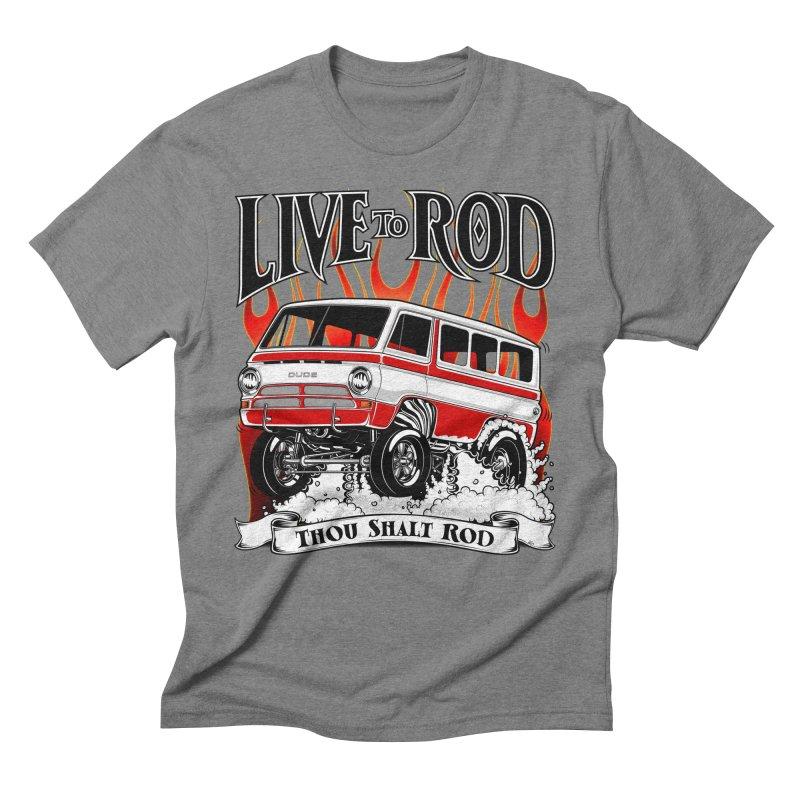 69' Dodge Gasser van, clean red Men's Triblend T-Shirt by screamnjimmy's Artist Shop