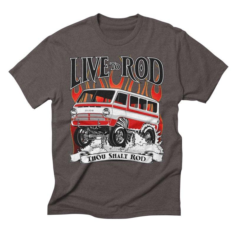 69' Dodge Gasser van, clean red Men's T-Shirt by screamnjimmy's Artist Shop