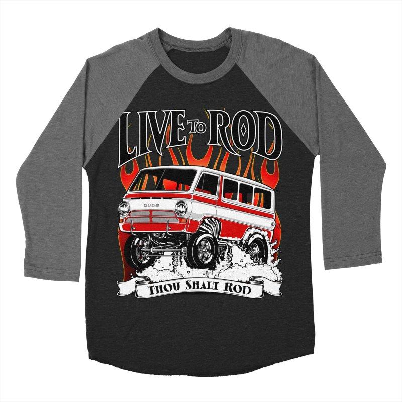 69' Dodge Gasser van, clean red Men's Baseball Triblend T-Shirt by screamnjimmy's Artist Shop