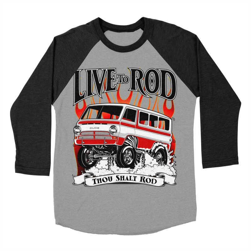 69' Dodge Gasser van, clean red Men's Baseball Triblend Longsleeve T-Shirt by screamnjimmy's Artist Shop